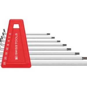 ชุดประแจหกเหลี่ยมชนิดหัวท๊อกซ์คอสั้นแบบยาว